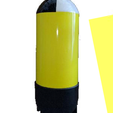 Botella De Buceo 12 Litros Con Grifería Doble En Línea Culote Y Red